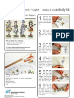 Four French paper dolls - Danielle