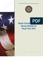 Senior Executive Service Survey Results for Fiscal Year 2011