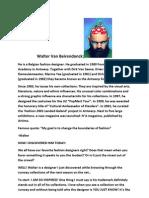 Walter Van Beirendonck Brand Info