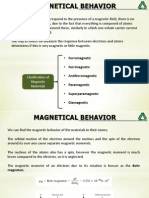 Magnetical Behavior