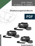 BedienungGerman VHF7100 Screen