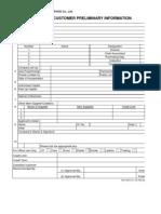 Vietchemi New Customer Preliminary Information