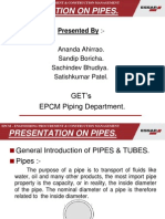 Presentation on Pipes