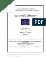 Mdhm Information Brochure 2012-2013