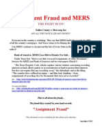 Assignment Fraud and MERS