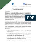 Social Enterprise Sector - A Conceptual Framework