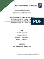 """""""Análisis en la Aplicación de la Fisioterapia en Campeche"""""""