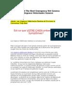 How to Find the Best Emergency Vet Geneva AKA Urgence Veterinaire Geneve