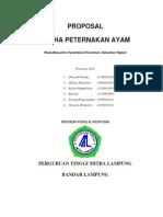 Proposal Usaha Peternakan Ayam