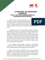 CONVENIO NACIONAL DE INDUSTRIAS CÁRNICAS