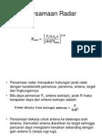 Persamaan Radar