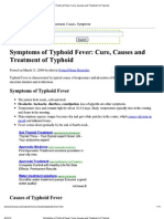Symptoms of Typhoid Fever- Cure, Causes and Treatment of Typhoid