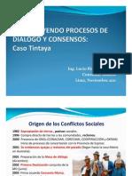 Construyendo Procesos de Dialogo y Consensos Tintaya