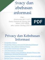 Privacy Dan Kebebasan Informasi(1)