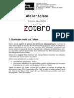 Atelier Zotero