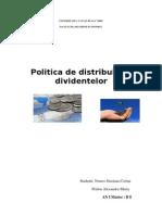Politica de Distribuire a Dividentelor