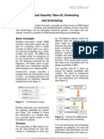 WHITE PAPER - BIM Based Estimating and Scheduling