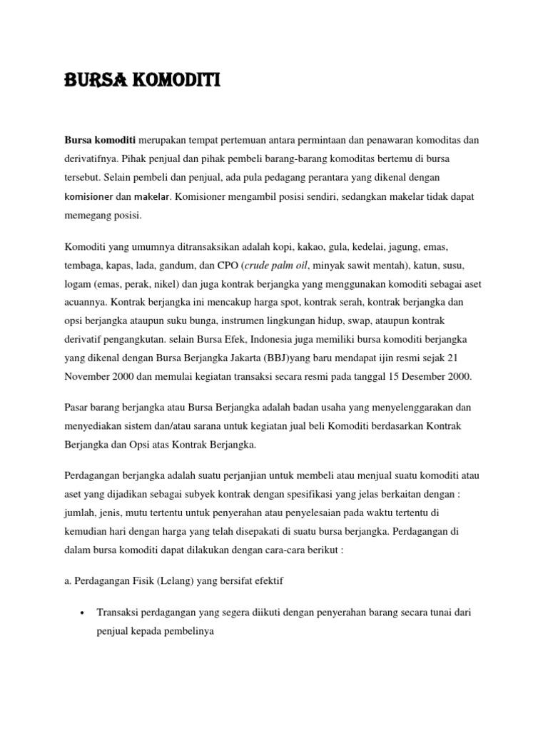 strategi perdagangan komoditas mcx
