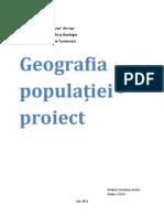geografia populatiei