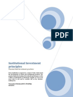 Investment Principles for Institutional Investors