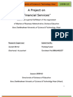 Project Financial Services