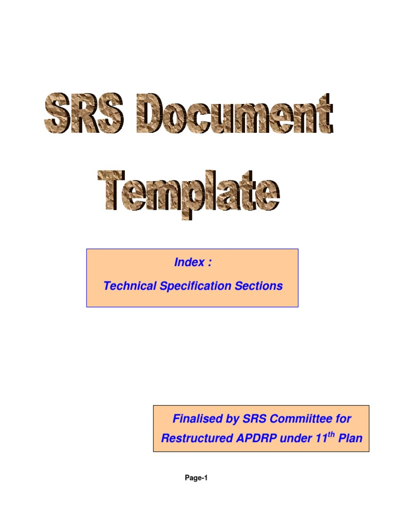 Srs document unit testing specification technical standard pronofoot35fo Gallery