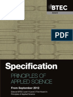 BF029943 Specification BTEC Level 1 2 First Award Principles of Applied Science
