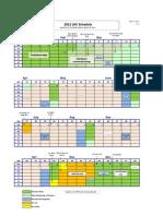 LHC Schedule 2012