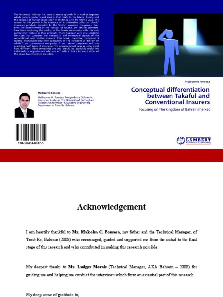 Conceptual On Between Takaful And Conventional