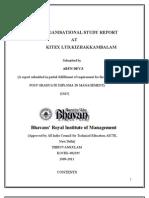 Arundev Org Study Report Kitex Ltd