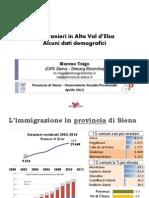 L'immigrazione in provincia di Siena e Alta Val d'Elsa