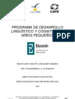 PROGRAMA DE DESARROLLO LINGÜÍSTICO Y COGNITIVO DE NIÑOS PEQUEÑOS