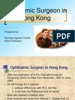Ophthalmic Surgeon in Hongkong
