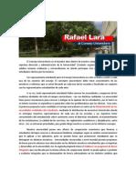 Rafael Lara, Candidato Al Consejo Universitario