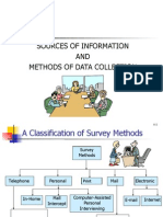 Sources and Methods of Data Collection