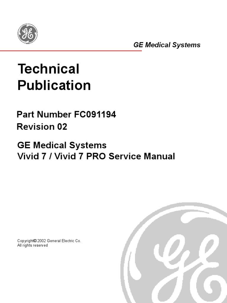GE Vivid 7 - Service Manual   Electromagnetic Compatibility   Medical  Ultrasound