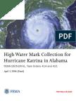 FEMA - High Water Mark Collection for Hurricane Katrina in Alabama