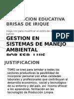 Sintesis de La Titulacion de Gestion Ambiental