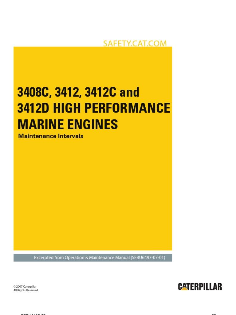 3408c 3412 3412c and 3412d high performance marine engines rh scribd com caterpillar 3412 shop manual caterpillar 3412 maintenance manual