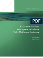 Economic Growth and Development in Malaysia-Policy Making and Leadership