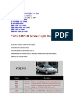 VOLVO Reset Service Light