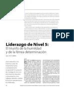 Liderazgo Nivel 5
