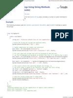 Search Strings Using String Methods (C# Programming Guide)