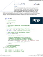 Statements (C# Programming Guide)