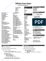 PHPUnit Cheat Sheet