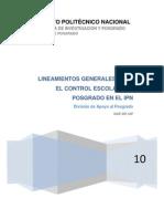 Manual de Lineamientos Generales Para Control Escolar Del Posgrado