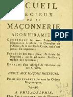 Maçonnerie Adhonhiramite