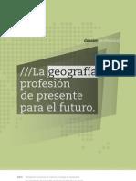 La Geografía Profesión del Presente para el Futuro