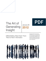 The Art of Generating Insight Euro Monitor 2012 Jan
