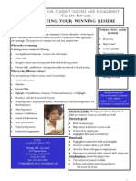Writing a Winning Resume Handout Colored Version